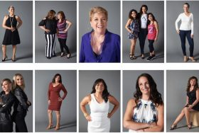 Breast cancer survivors, who partook in the photo shoot that Dr. Zeidler put on for them this year.