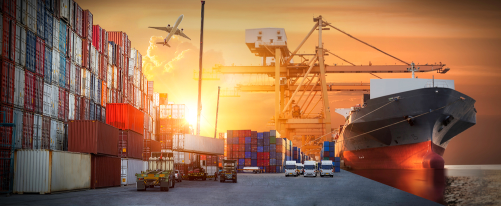international trade, cargo, containers - used Mar2020 - shutterstock_1500953936