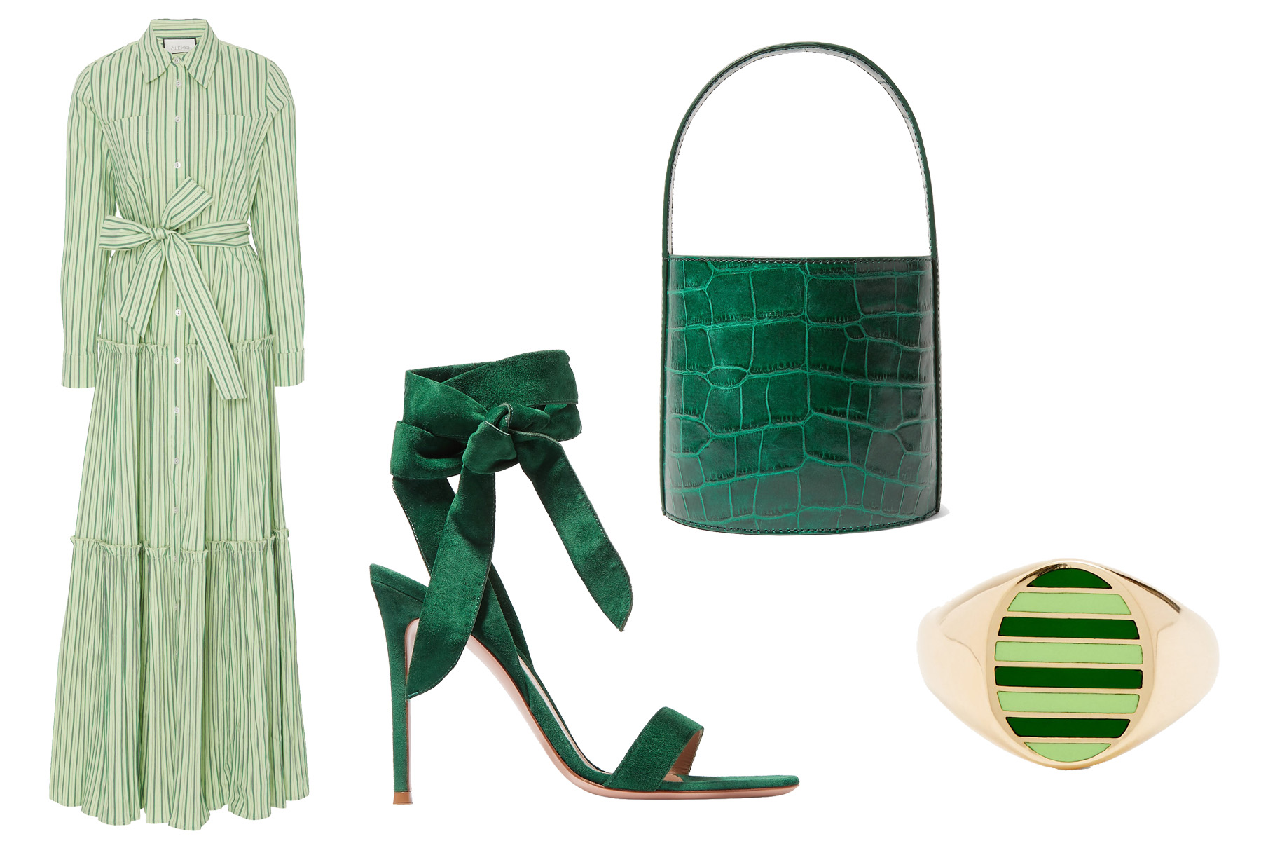 maternity-color-trend-green 5 Head-to-Toe Color Looks for the Expectant Mom—Just in Time for Spring