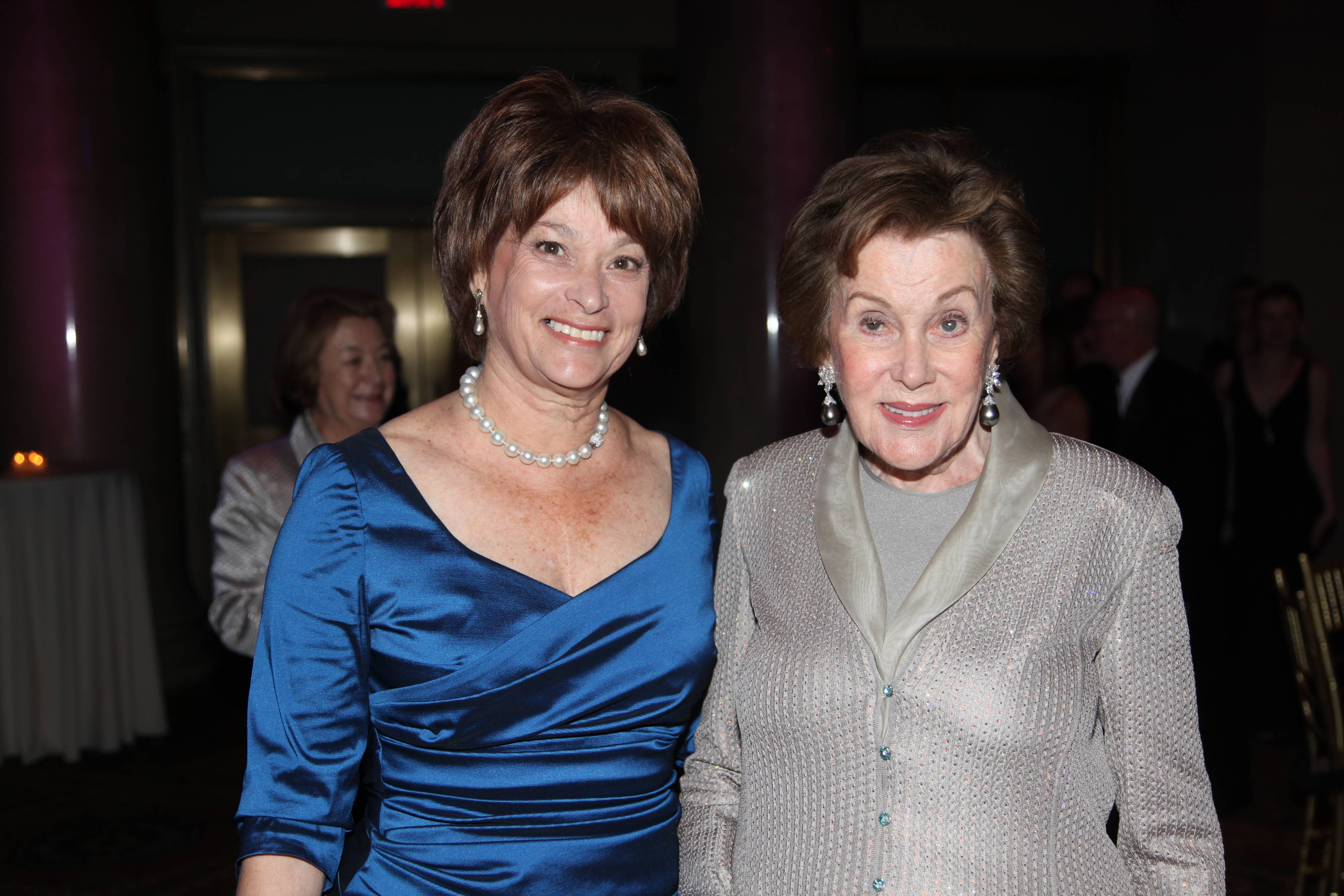 Betsy Karel, daughter, with mother and honoree Helen L Kimmel