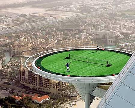 Burj Al Arab Helicopter Pad Tennis Court