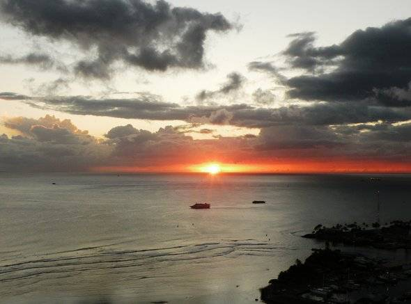 Sunset Views of the Pacific from Hokua's Penthouse