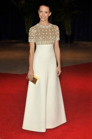 Kristen Davis in Balmain Couture from Decades in Los Angeles at the annual White House Correspondents' Association Dinner