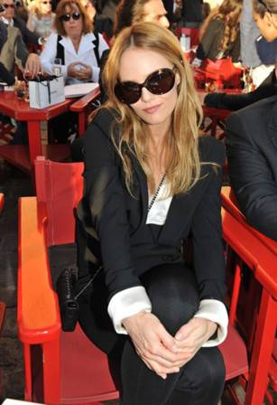 Vanessa Paradis at the Chanel Cruise 2011 show in St. Tropez
