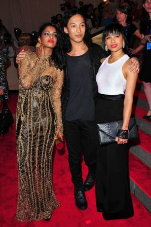 M.I.A. and Zoë Kravitz with Alexander Wang wearing Alexander Wang for Gap