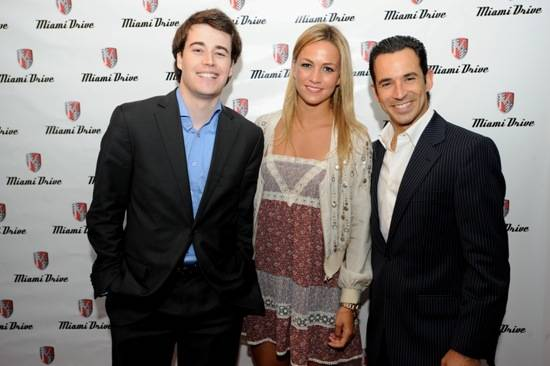Albert Villanova, Carmen Jorda and Helio Castroneves