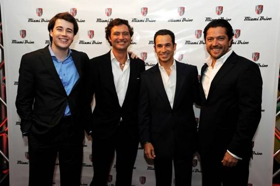 Albert Villanova, Javier Martin, Helio Castroneves, & Jose Luis Bueno