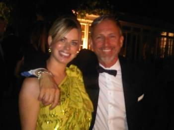 Caroline Stanbury and Patrick Cox