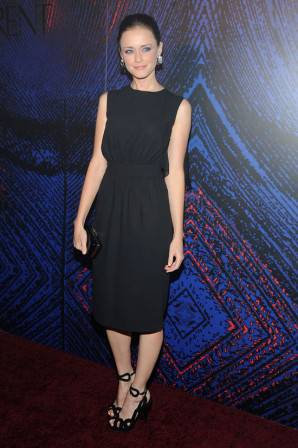 Alexis Bledel in Yves Saint Laurent at the Yves Saint Laurent party to celebrate the relaunch of Opium