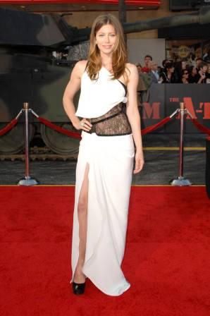 Jessica Biel in Emilio Pucci at the A-Team Los Angeles Premiere