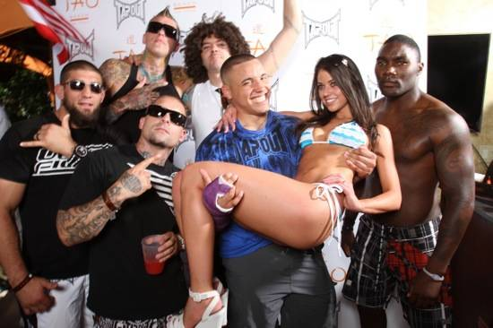 1. Cort McGee, Chris Andersen, Punkass, Skyskrape, Pat Barry, Erene Kleoni, Anthony Johnson at TAO Beach