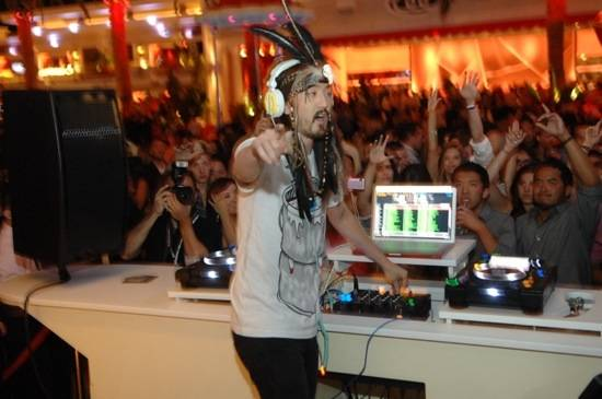 Steve Aoki at Surrender Nightclub.