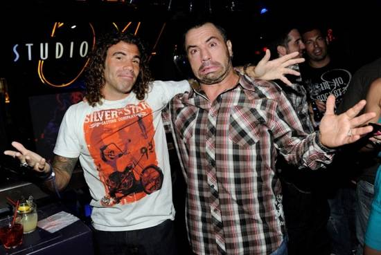 Clay Guida and Joe Rogan at Studio 54, Las Vegas, July 3