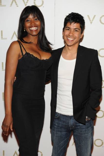 Erika Alexander & Jeremy Ray Valdez at LAVO-smaller