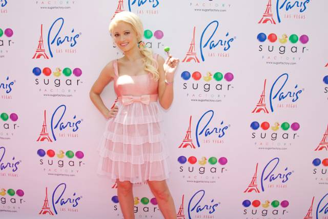 Holly Madison with Sugar Factory's Vegas Couture Pop (Carlos Larios)