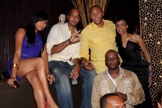 LeToya Luckett, Drew Gooden, Shawn Marion and Michelle Williams