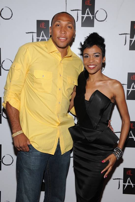 Shawn Marion and Michelle Williams