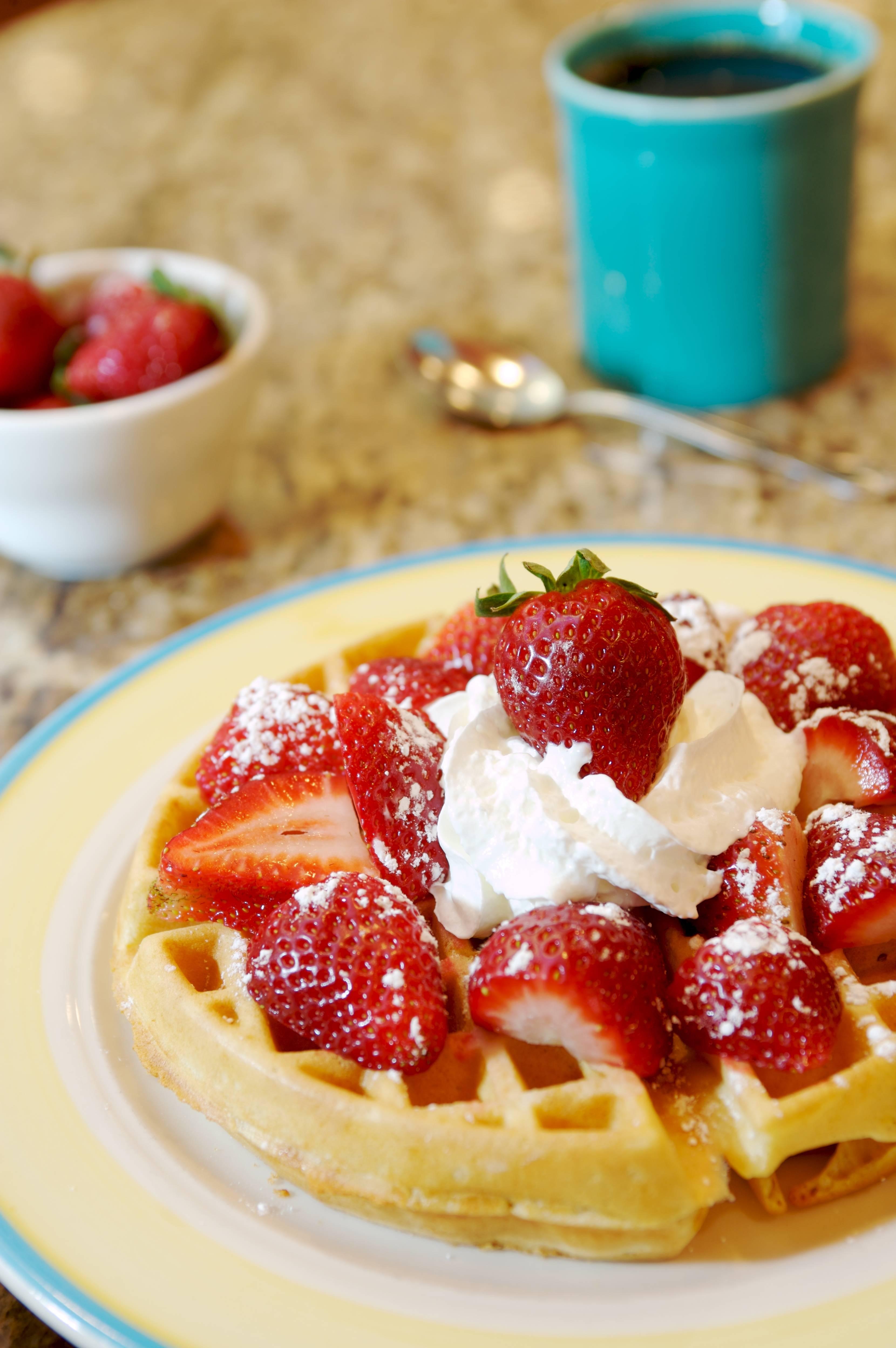strawberry waffle j. christophers