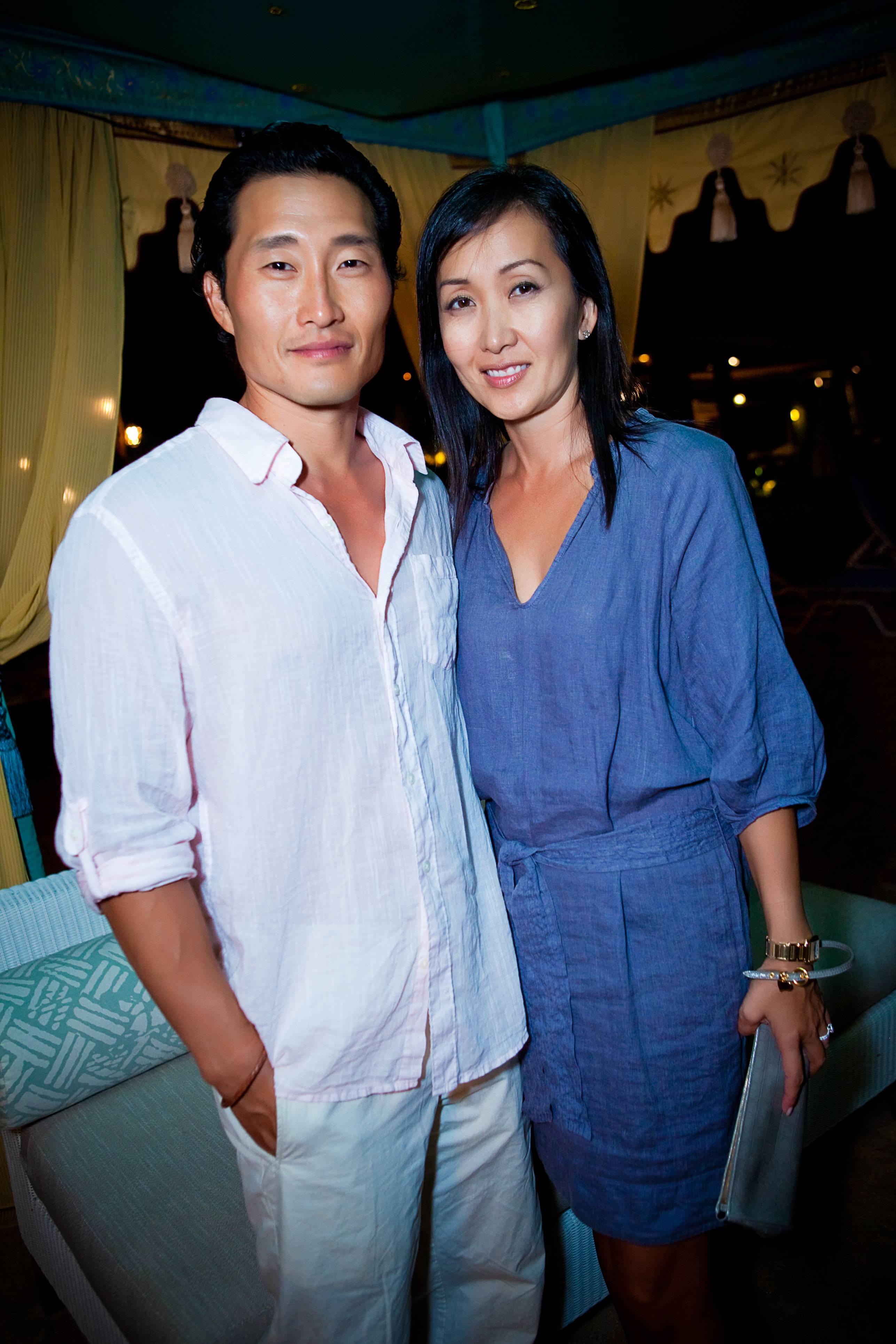 Actor Daniel Dae Kim and wife Mia