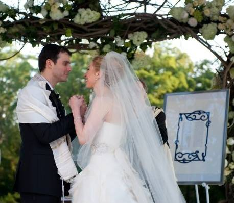 Chelsea Clinton, right, marries Marc Mezvinsky at the Astor Courts Estate on July 31, 2010, in Rhinebeck, N.Y. Chelsea Clinton, the daughter of former U.S. President Bill Clinton and Secretary of State Hillary Clinton, married Marc Mezvinsky today in an interfaith ceremony at the estate built by John Jacob Astor on the Hudson River about two hours north of New York City. (Handout photo by Genevieve de Manio via Getty Images)