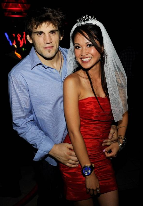 Jon Fitch and Michele Cao at Tabu