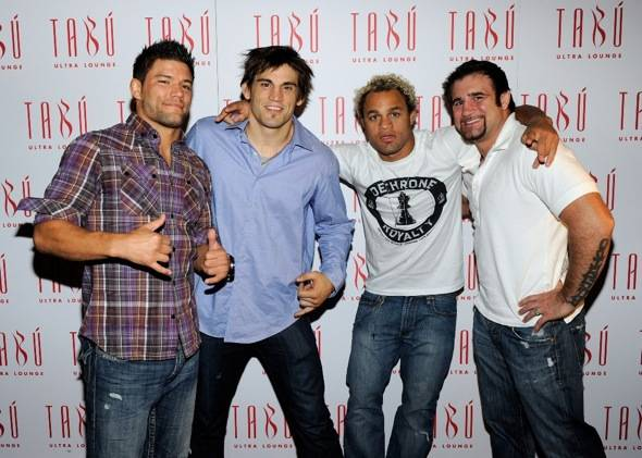 Josh Thomson, Jon Fitch, Josh Koscheck and Phil Baroni on the carpet at Tabu