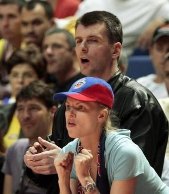 Mikhail Prokhorov at the basketball game