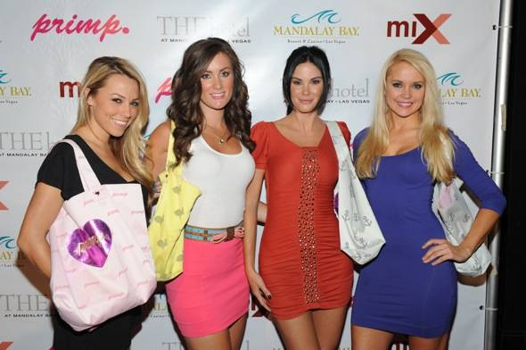 Jessica Hall, Kara Kramer, Jayde Nicole, and Stacy Fuson