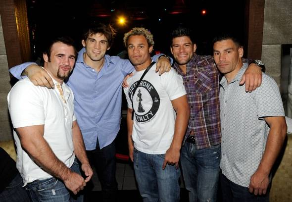 Phil Baroni, Jon Fitch, Josh Koscheck, Josh Thomson and Gary Owen at Tabu