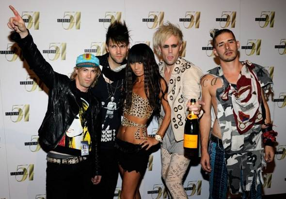 Semi Precious Weapons and Bai Ling on Red Carpet at Studio 54, Las Vegas 8.13.10