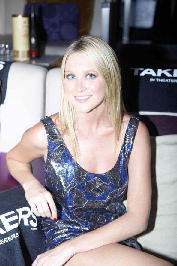 Stephanie Pratt at TAKERS premiere after party at Lagasse's Stadium