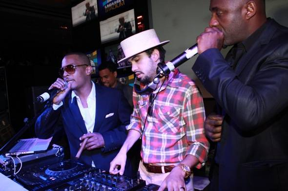 TI and Idris Elba taking over the turntables with DJ Cassidy
