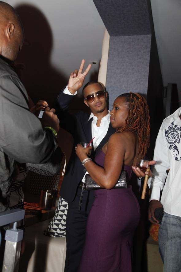 TI enjoying the premiere after party