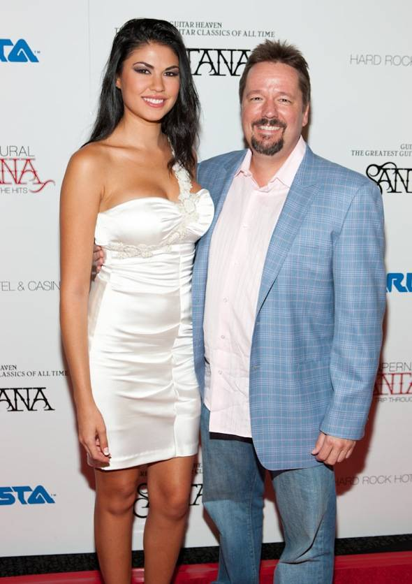 Taylor Makakoa and Terry Fator at VIP Listening Event Red Carpet- credit Erik Kabik RETNA erikkabik.com