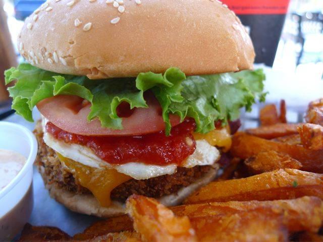 panko crusted veggie burger
