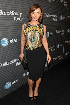 Actress Christina Ricci arrives at the BlackBerry Torch from AT&T U.S. Launch Party on August 11, 2010 in Los Angeles, California.