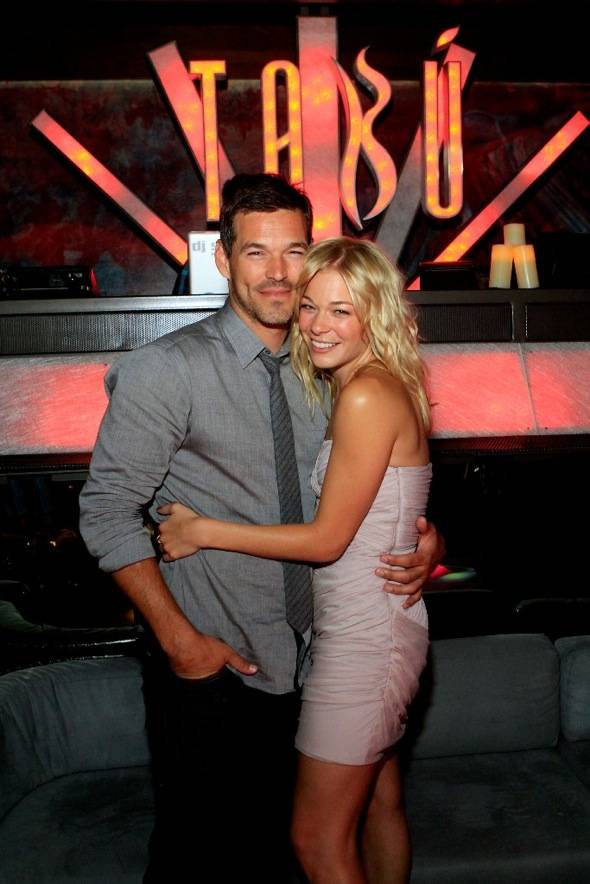Eddie Cibrian and LeAnn Rimes inside Tabu Ultra Lounge