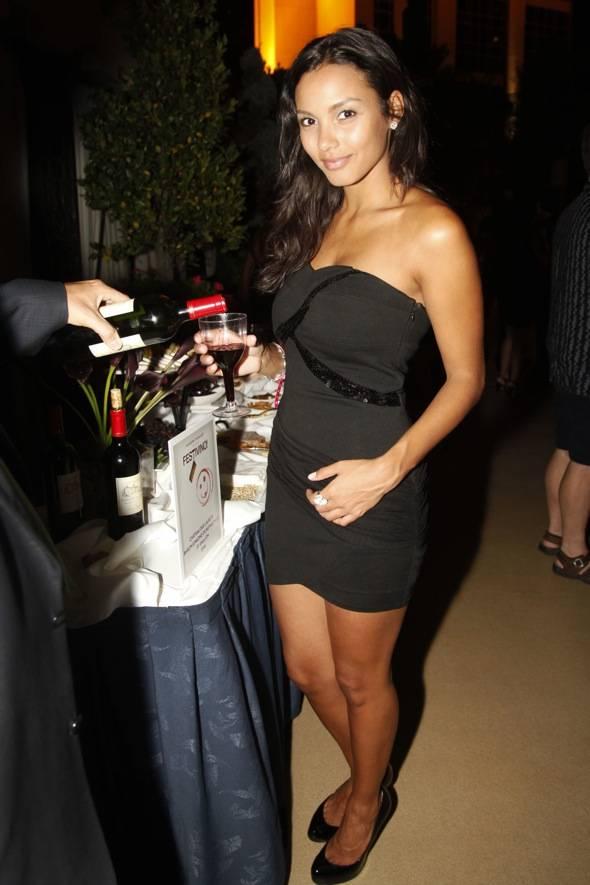 Jessica enjoying wine