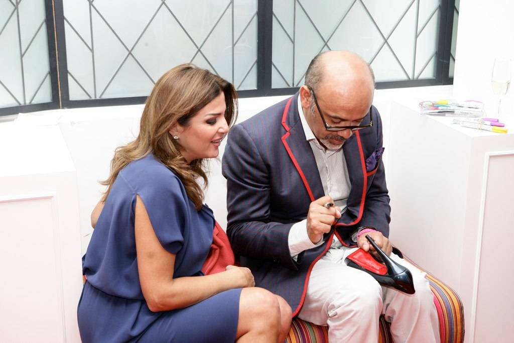 Christian Louboutin Signs Shoes at New Beirut Boutique