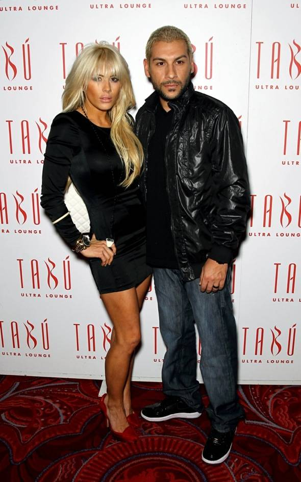 Shayne Lamas and Nik Richie on the carpet at Tabú Ultra Lounge