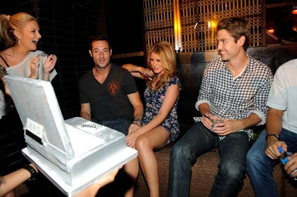 Stephanie Pratt, Scott Hochstadt, Lo Bosworth and friend at LAVO