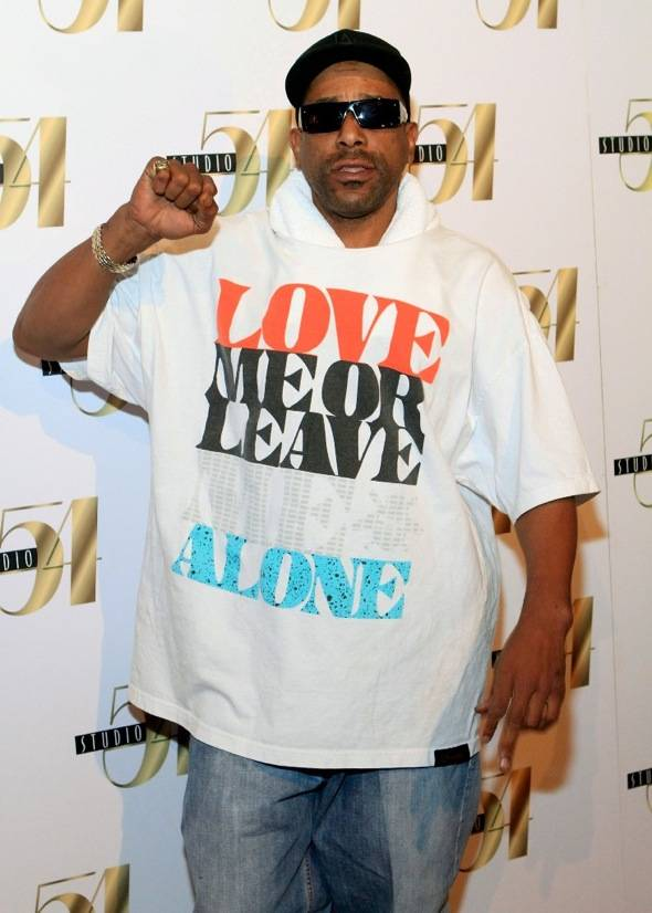 Tone Loc on the carpet at Studio 54