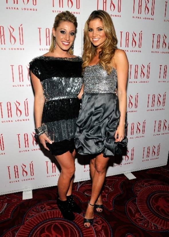 Vienna Girardi and Amber Lancaster at Tabu Ultra Lounge 2, 9.18.10