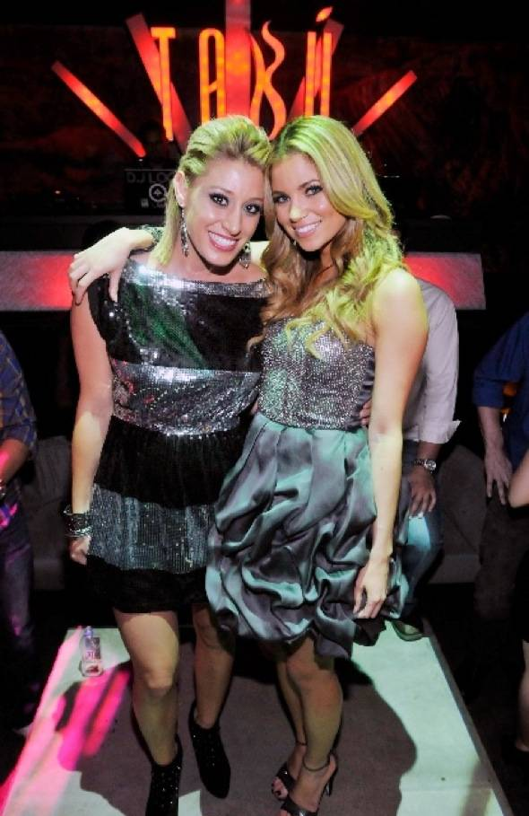 Vienna Girardi and Amber Lancaster at Tabu Ultra Lounge, 9.18.10