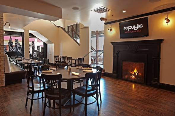 republic - fireplace