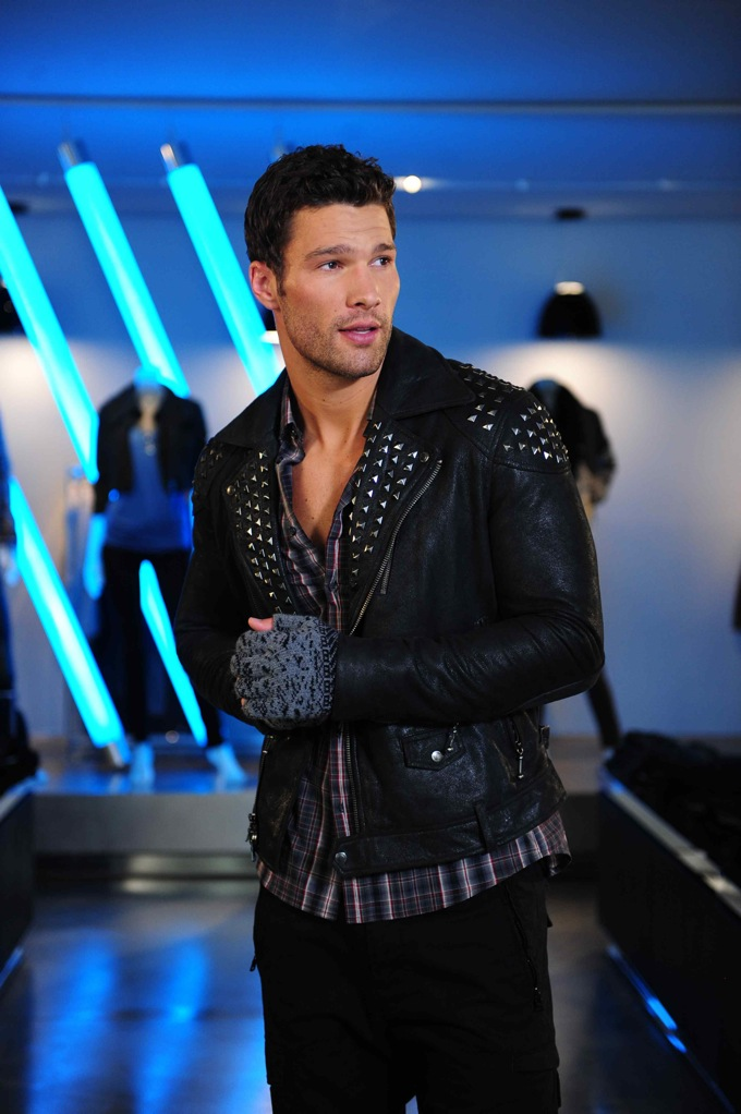 A|X Men's Studded Leather Jacket