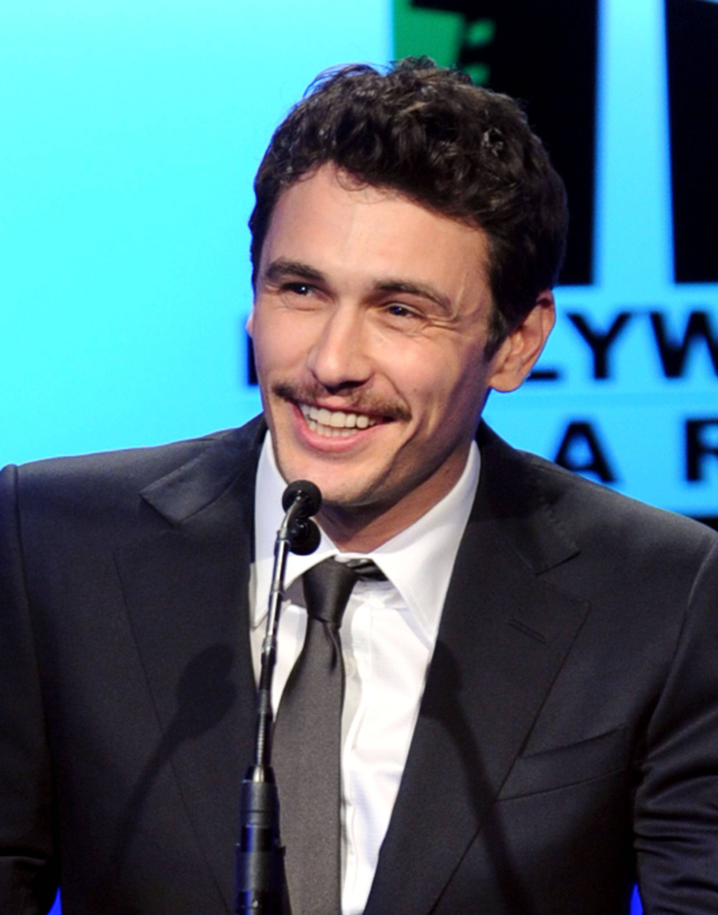 Actor James Franco speaks onstage during the 14th annual Hollywood Awards Gala at The Beverly Hilton Hotel on October 25, 2010 in Beverly Hills, California.