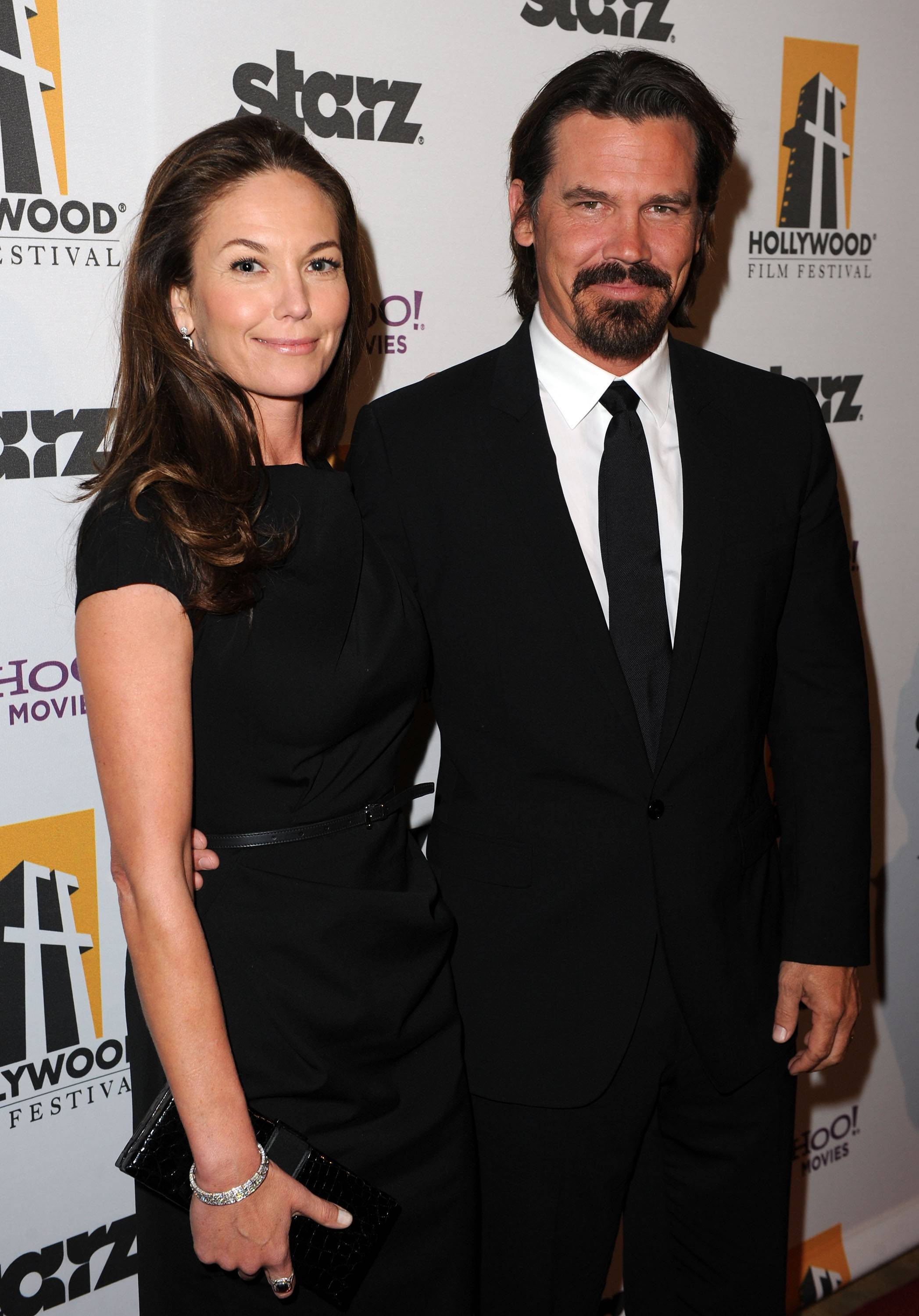 Actress Diane Lane (L) and actor Josh Brolin arrive at the 14th annual Hollywood Awards Gala at The Beverly Hilton Hotel on October 25, 2010 in Beverly Hills, California.