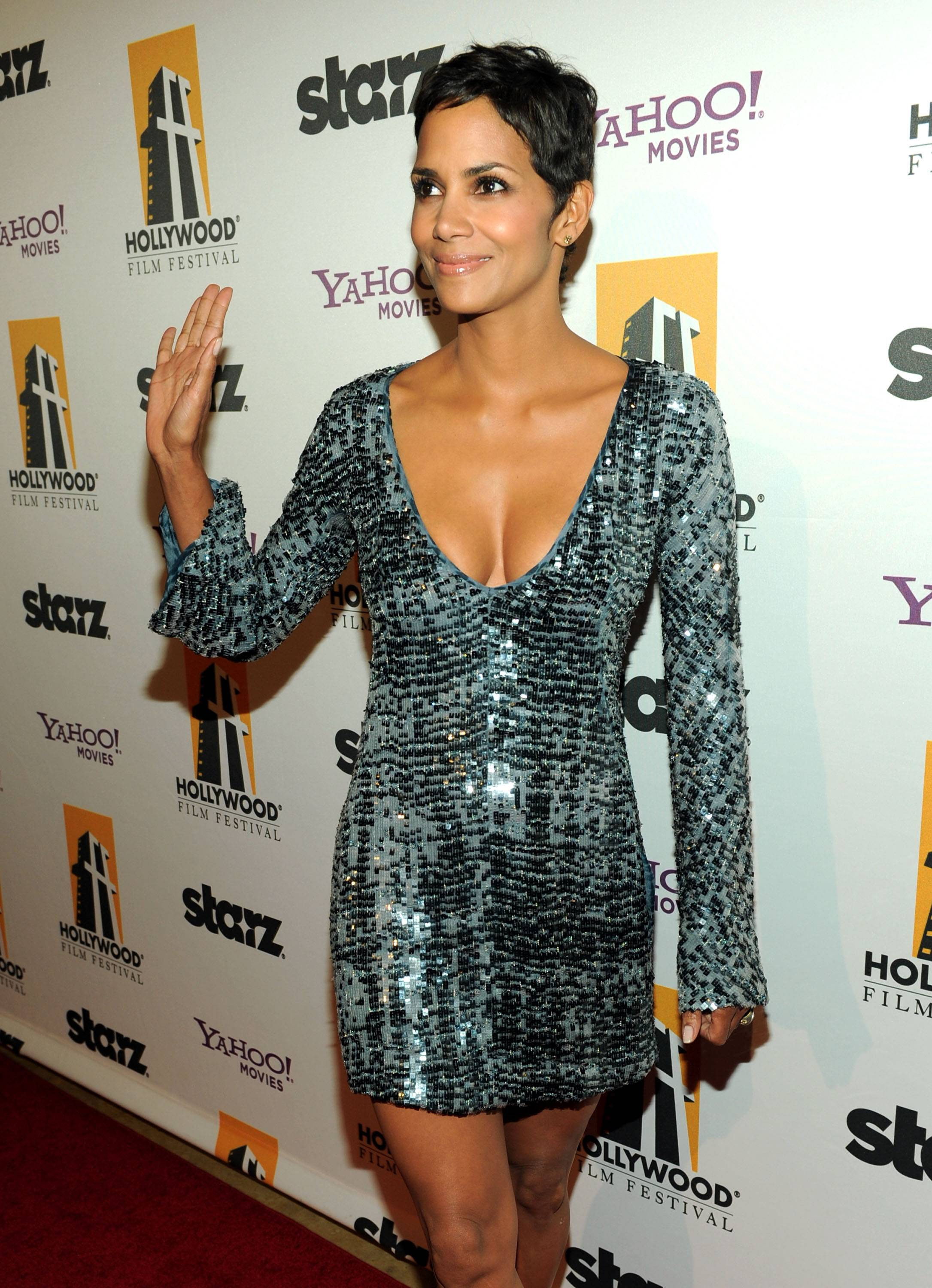Actress Halle Berry arrives at the 14th annual Hollywood Awards Gala at The Beverly Hilton Hotel on October 25, 2010 in Beverly Hills, California.