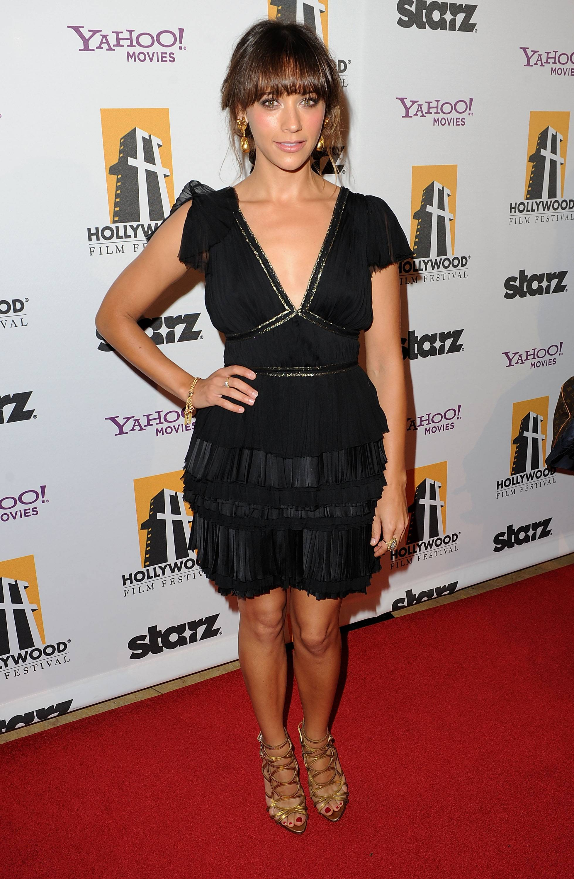 Actress Rashida Jones arrives at the 14th annual Hollywood Awards Gala at The Beverly Hilton Hotel on October 25, 2010 in Beverly Hills, California.